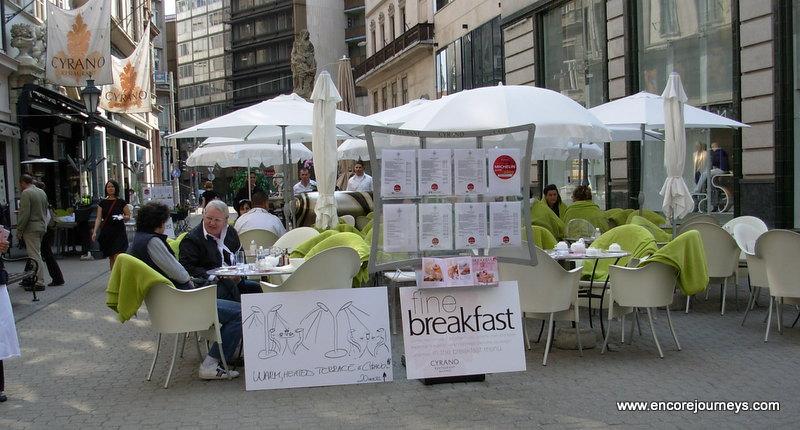 Budapest Outdoor Cafe