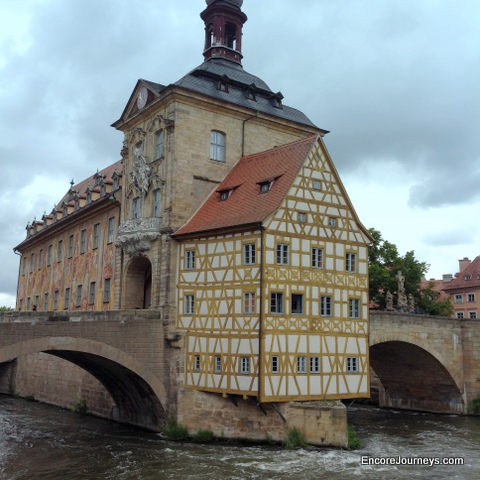 Famous building over river in Bamburg