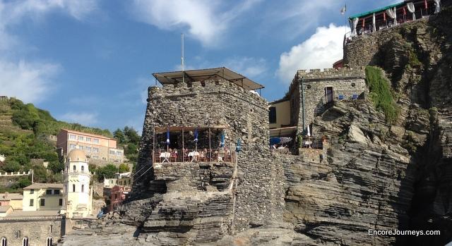 Castle in Cinque Terre, Italy