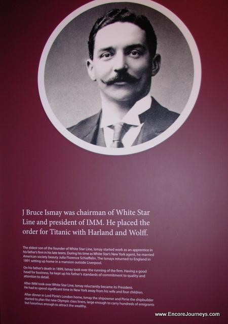 White Star Line, Titanic Museum, J. Bruce Ismay, Belfast, Ireland